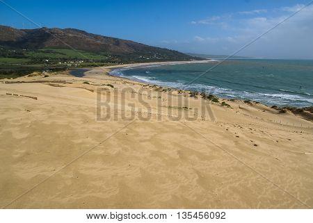 Image of sand dunes at Punta de la Paloma, Andalucia, Spain
