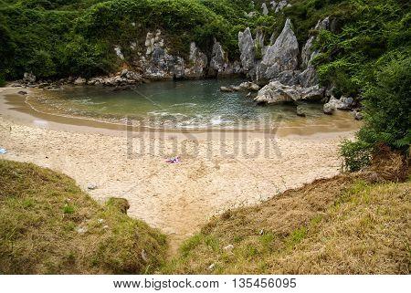 Gulpiuri beach at Asturia y Cantabria, Spain