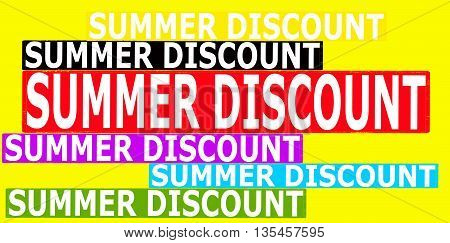 Rubber stamp with text summer discount inside vector illustration