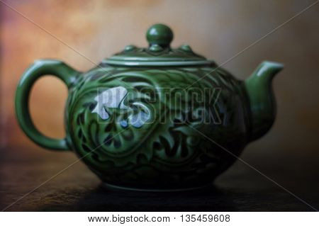 One chinese tea pot for traditional tea ceremony