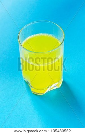 A glass with drugs dissolved in water
