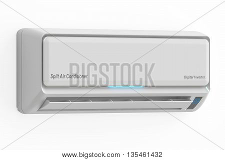 Air conditioner 3D rendering isolated on white background