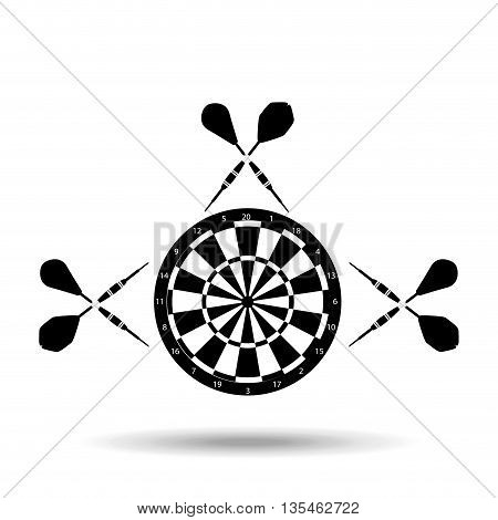 darts player design, vector illustration eps10 graphic