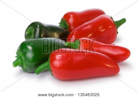 Pile Of Red And Green Jalapeno Peppers