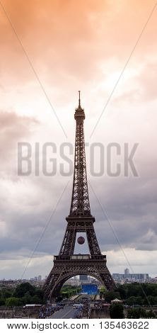 Picture shows the Eiffel Tower in Paris, France