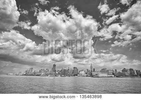 Black And White Picture Of Manhattan.