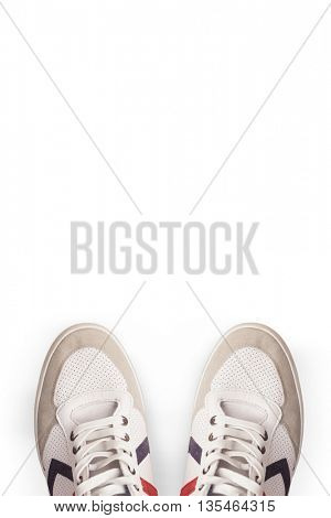 Sportswear shoes against white background