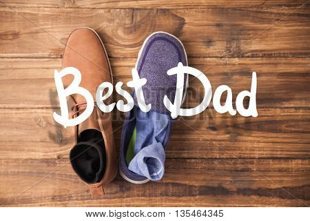 happy fathers day against casual and dressy mens shoes