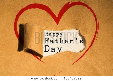 Word happy fathers day against directly above shot of torn paper
