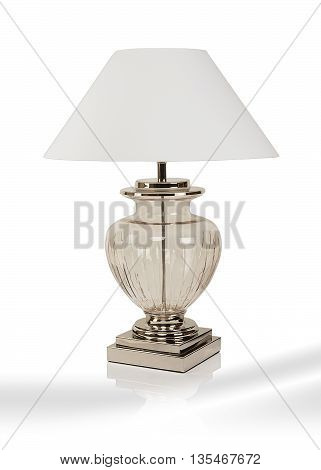 Modern luxury table lamp isolated on white background