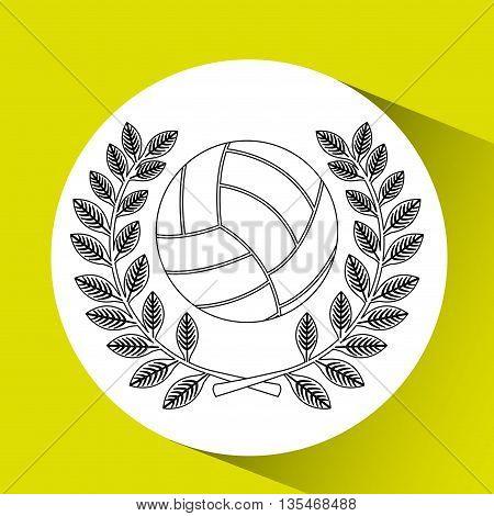 volleyball sport design, vector illustration eps10 graphic