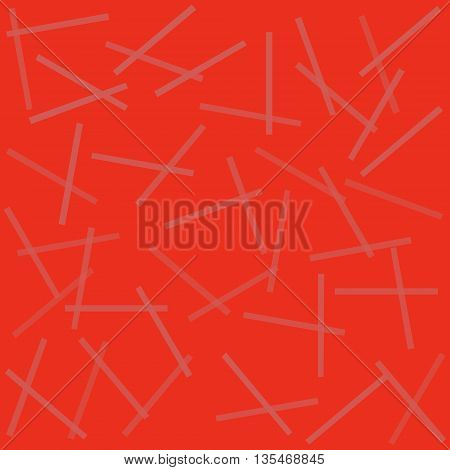 Abstract red texture with effect of reflecting strips. Vector illustration