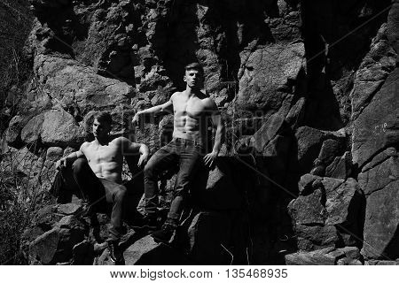 Muscular Male Twins