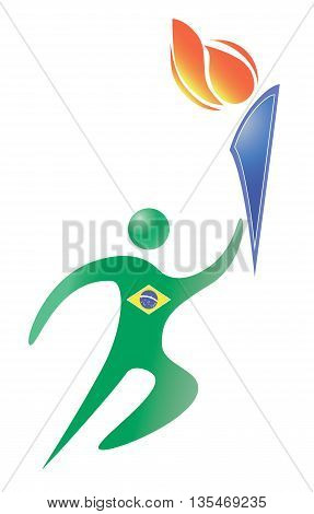 brasilia sport logo on the white background. burning torch