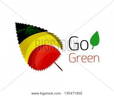 Go green logo. Green nature concept. Vector illustration