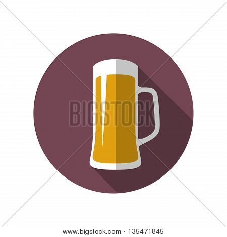 Beer glass icon. Beer mug icon. Flat style vector illustration