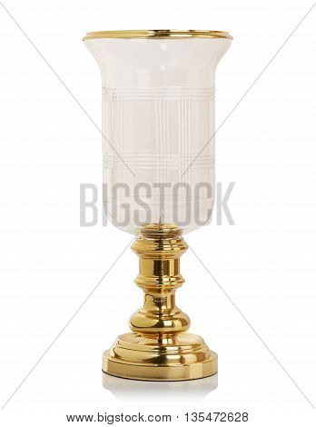 Luxury decorative candlestick isolated on white background