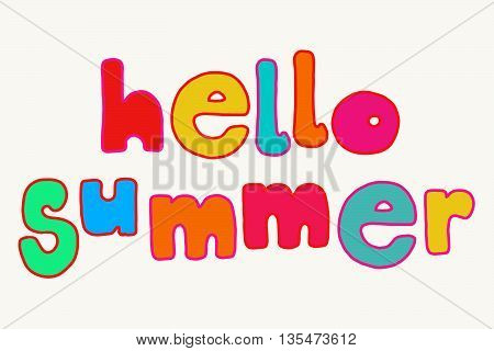 Bright Hello Summer Lettering