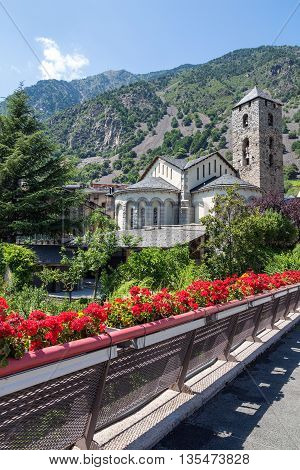 Historic town of Andorra La Vella capital of Andorra.
