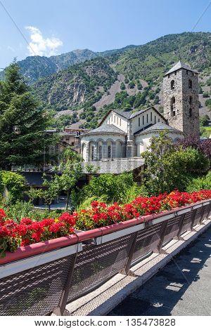 Historic town of Andorra La Vella capital of Andorra.
