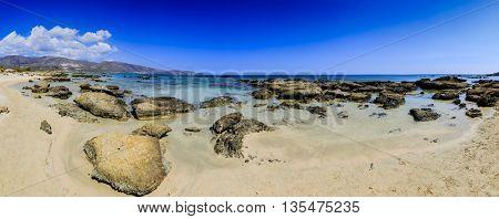 Elafonisi beach, Crete, Greece - panorama