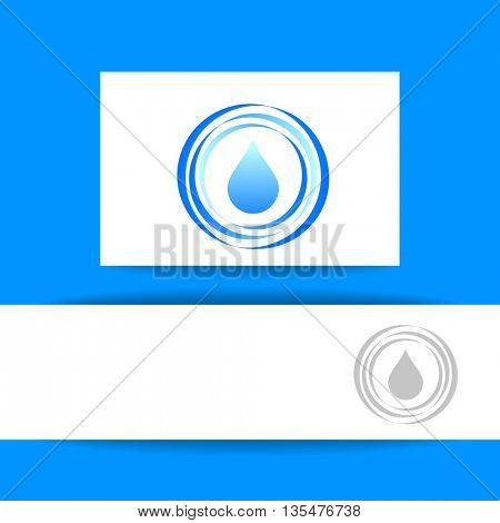 Concept identity presentation design for mineral water, eco drink, bio liquid, aqua product and etc. Vector graphic illustration.