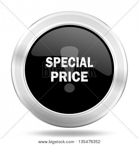 special price black icon, metallic design internet button, web and mobile app illustration