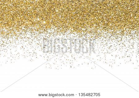 Gold border. Sequins. Golden shine. Powder. Glitter. Shining background