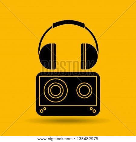 sound system design, vector illustration eps10 graphic