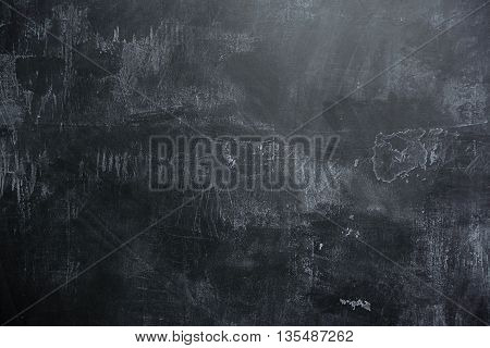background of Empty black slate wall or schoolboard