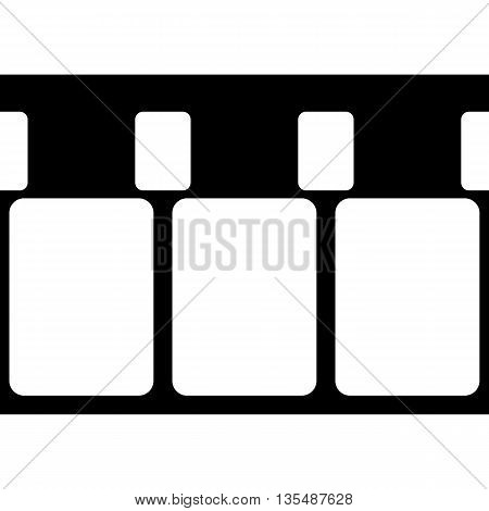 Vector 8 mm Film Strip Illustration on White Background. Abstract Film Strip design template. Film Strip Seamless Pattern.