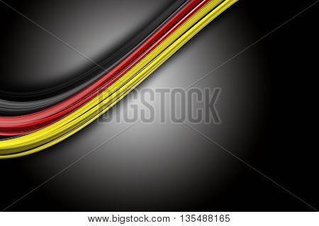 Illustrated German colored wave design for sport events