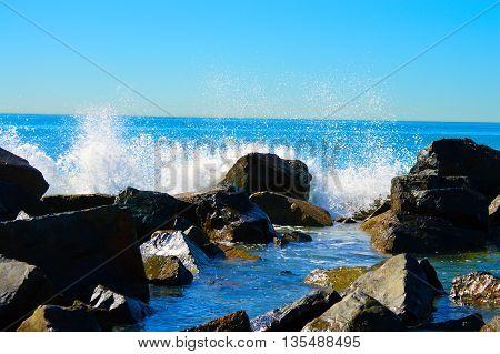 Coronado Beach San Diego California splashing waves