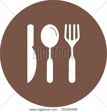 Fork, knife, cutlery icon vector image. Can also be used for kitchen. Suitable for use on web apps, mobile apps and print media.