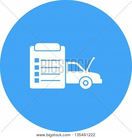 Car, vehicle, check icon vector image. Can also be used for car servicing. Suitable for use on web apps, mobile apps and print media.