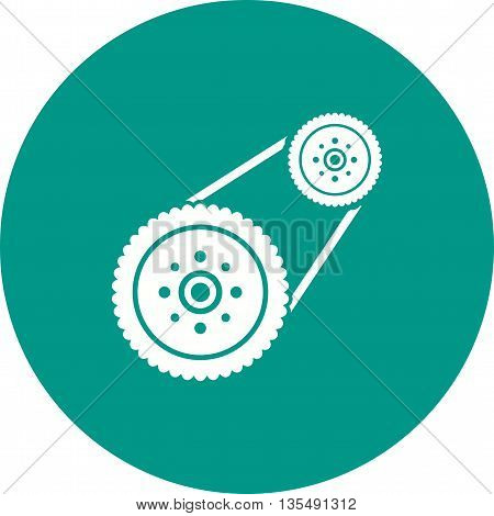 Car, engine, automotive icon vector image. Can also be used for car servicing. Suitable for use on web apps, mobile apps and print media.