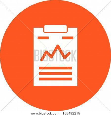 Statistics, business, document icon vector image. Can also be used for data sharing. Suitable for use on web apps, mobile apps and print media.