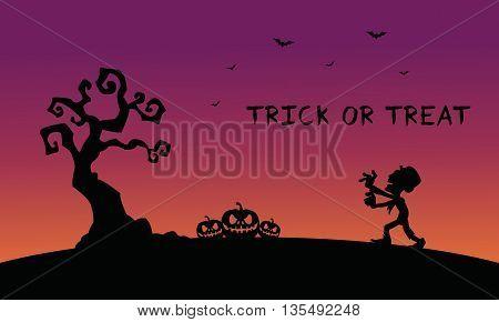 Backgrounds Halloween zombie pumpkins a very beautiful