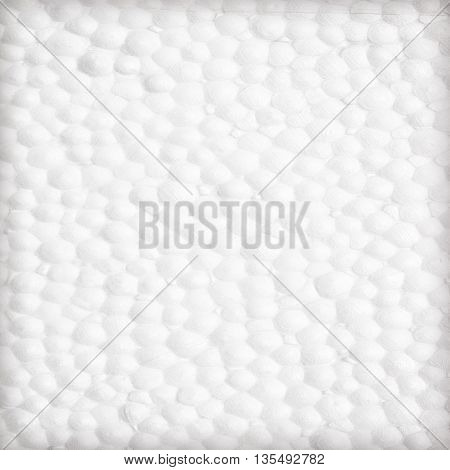 The polystyrene Styrofoam foam background or texture
