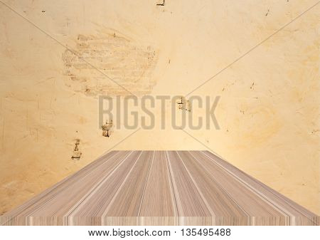 Natural wooden table top on vintage background stock photo
