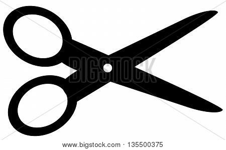 Scissors black icon symbol, cross section, cutting