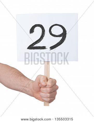 Sign With A Number, 29