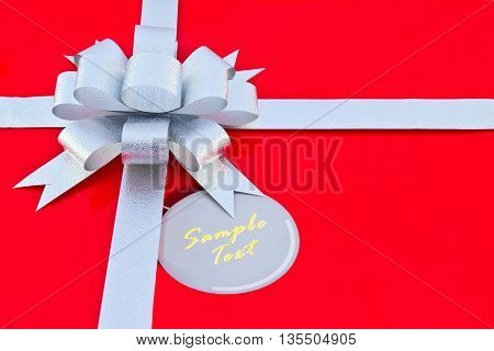 Red Box of Birthday's gift, background, present