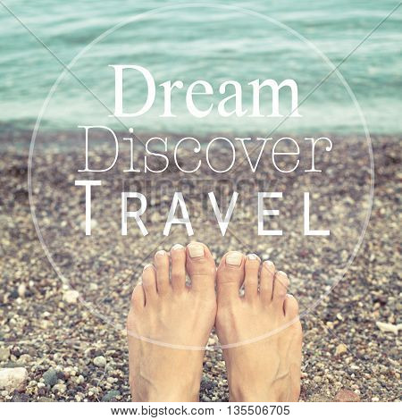 Dream discover travel / Travel summer vacation concept