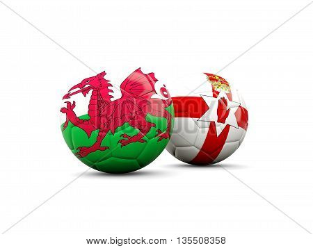 Northern Ireland And Wales Soccer Balls