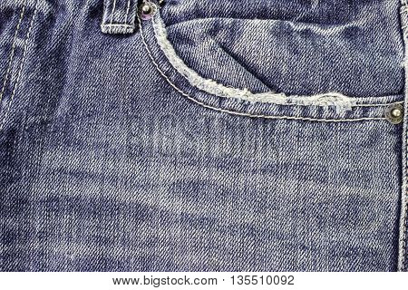 Denim jeans with old torn of fashion jeans
