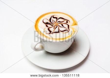 cappuccino on the white