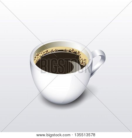 A cup of coffee . Vector illustration