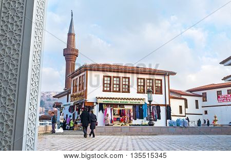 ANKARA TURKEY - JANUARY 16 2015: The city center is full of the souvenir stalls and traditional Turkish stores on January 16 in Ankara.