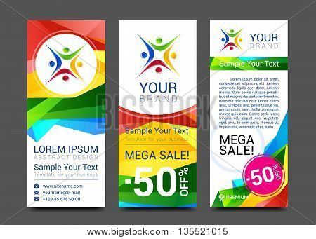 ector design technology for Cover Report Annual Brochure Flyer Poster Business cards collection people crowd design.